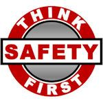 Think Safety First Hard Hat Decal - Weatherproof